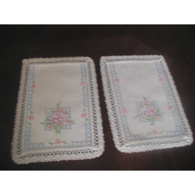 Hand Embroidered Furniture Scarves - Set of 4 - Image 5 of 10