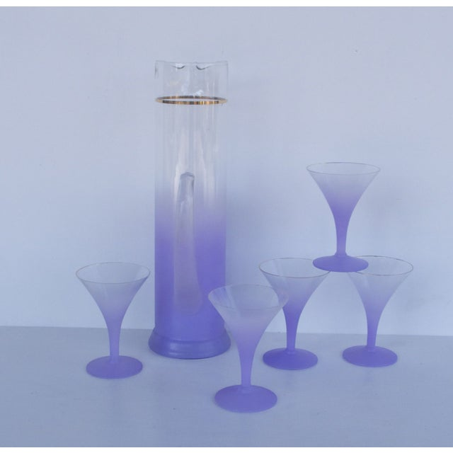 West Virginia Glass Frosted Cocktail Set - Image 5 of 8