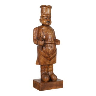 Wooden Chef Statue