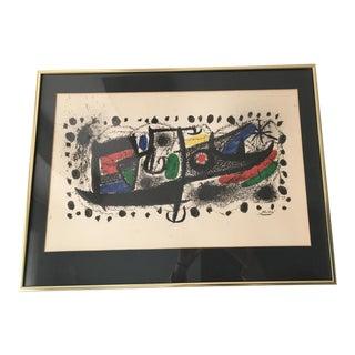 "Joan Miro Mid-Century ""Star Scene"" Signed Original Lithograph"