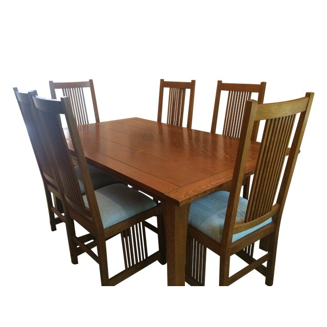 Stickley Mission Dining Set Table 10 Chairs Chairish