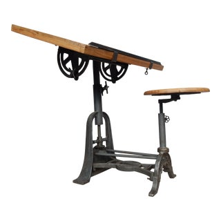 Vintage Urban Industrial Drafting Table