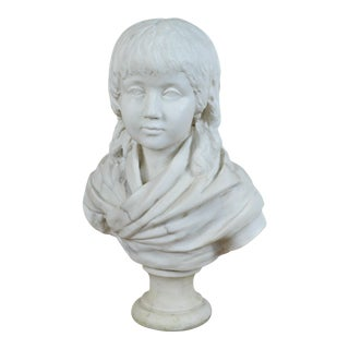 Neoclassical Style Bust of Child on Marble Socle