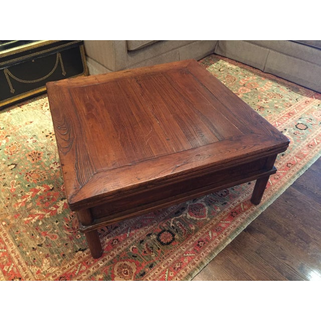 Square Elm Wood Coffee Table - Image 5 of 5