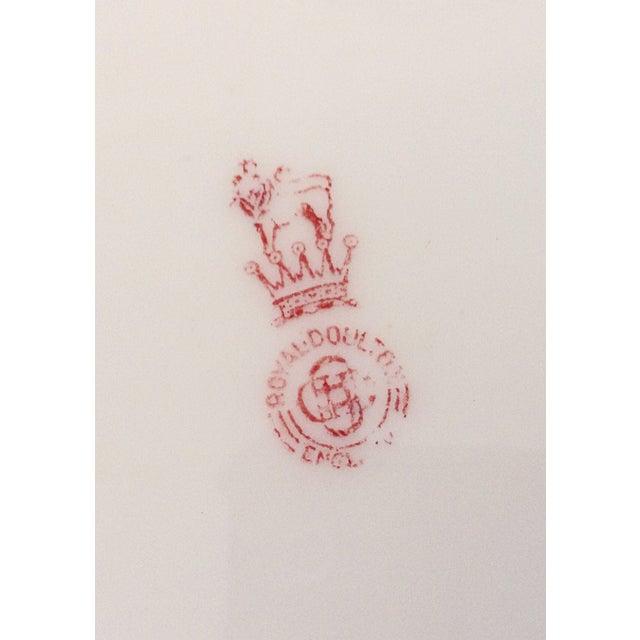 Royal Doulton English Blue & White Platter - Image 3 of 3