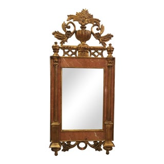 Sienna Marble & Giltwood Mirror