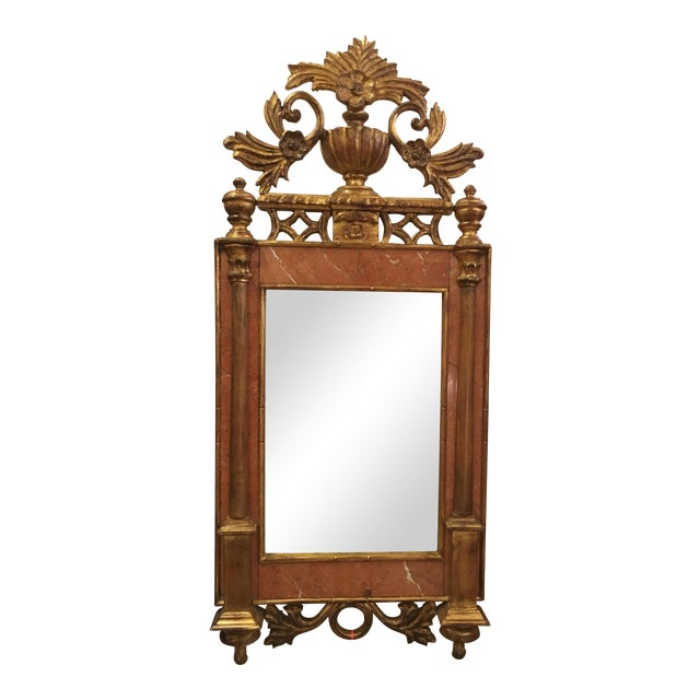 Image of Sienna Marble & Giltwood Mirror