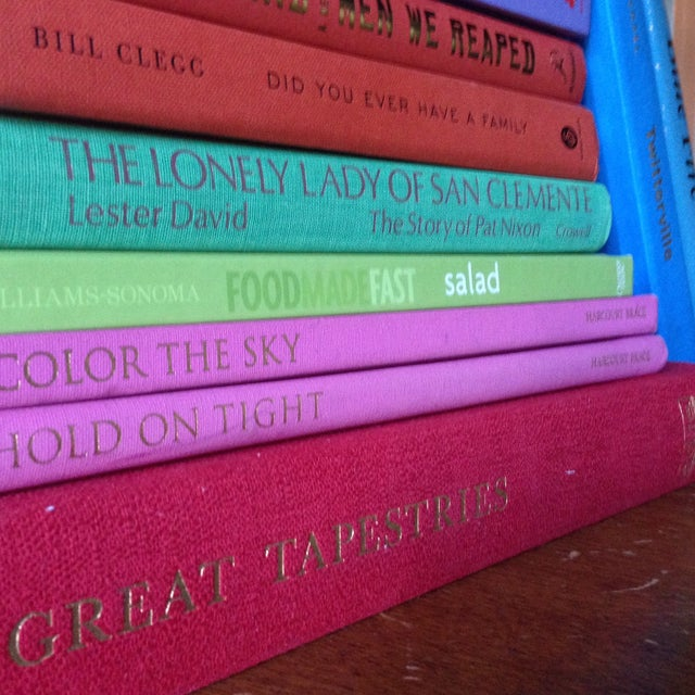 Brightly Colored Decorative Books - Set of 13 - Image 8 of 11