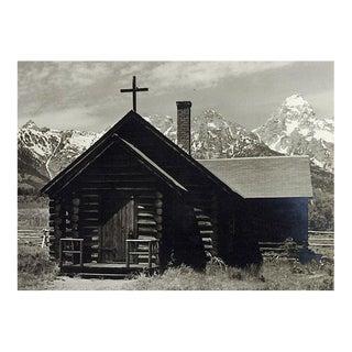 1950's Photograph Grand Teton's Log Chapel