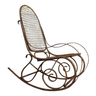 Antique Metal Thonet Style Rocker