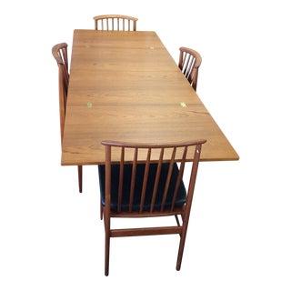Swedish Skaraborgs Dining Flip Flop Table & Dux Chairs
