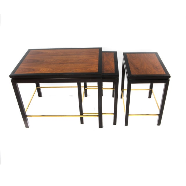 SET OF THREE NESTING TABLES BY EDWARD WORMLEY FOR DUNBAR, CIRCA 1950S - Image 2 of 11