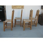 Image of Rush Seat Dining Chairs - Set of 4