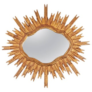 Mid-20th Century Spanish Sunburst Mirror