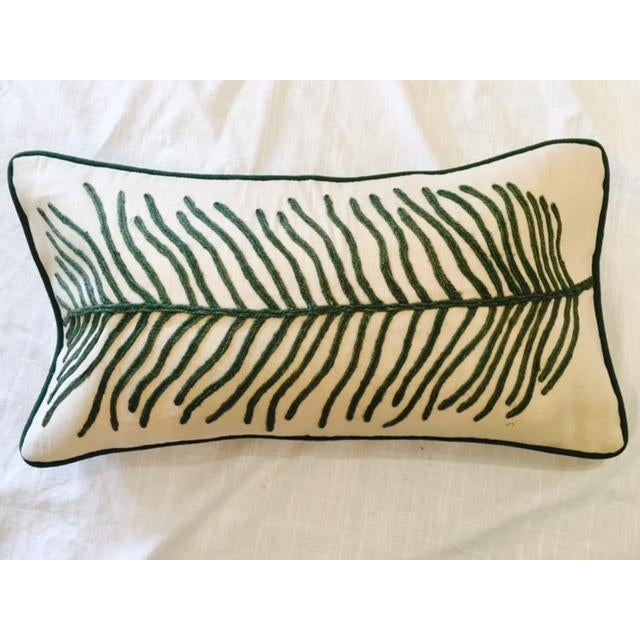 Leaf embroidered pillow case chairish