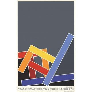 1982 Per Arnoldi Yellow Chair/Red Chair/Blue Chair- Serigraph