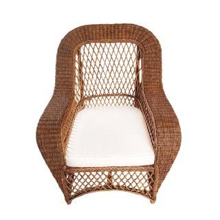 Jaxon Stained Wicker Arm Chair