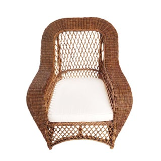 Jaxon Stained Wicker Arm Chair