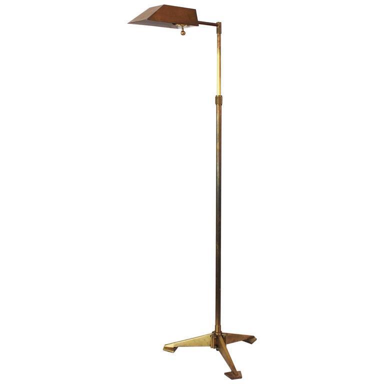 chapman brass tripod floor lamp image 2 of 11