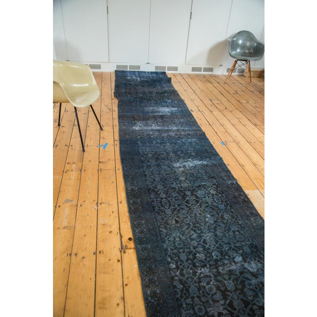 Hand-Knotted Overdyed Runner Rug - 3' x 19' - Image 9 of 10