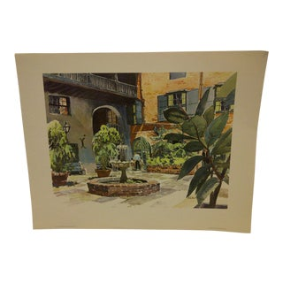 "Phil Austin ""Brulatour Courtyard"" United Airlines Print"