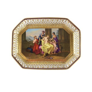 Royal Vienna Style Porcelain Hand Painted Tray