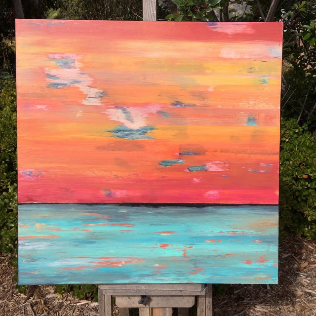 Original Contemporary Abstract Painting - Image 3 of 4