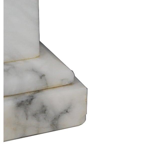 Image of Hand-Carved Italian Alabaster Obelisk Circa 1950s