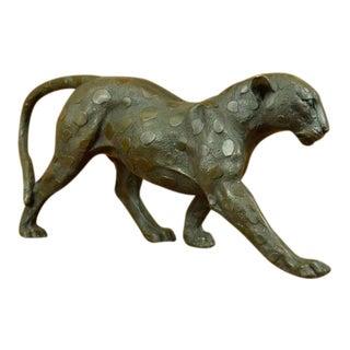 Wild Cat Bronze Sculpture