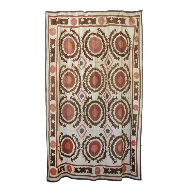 Antique Suzani Throw - Image 2 of 7