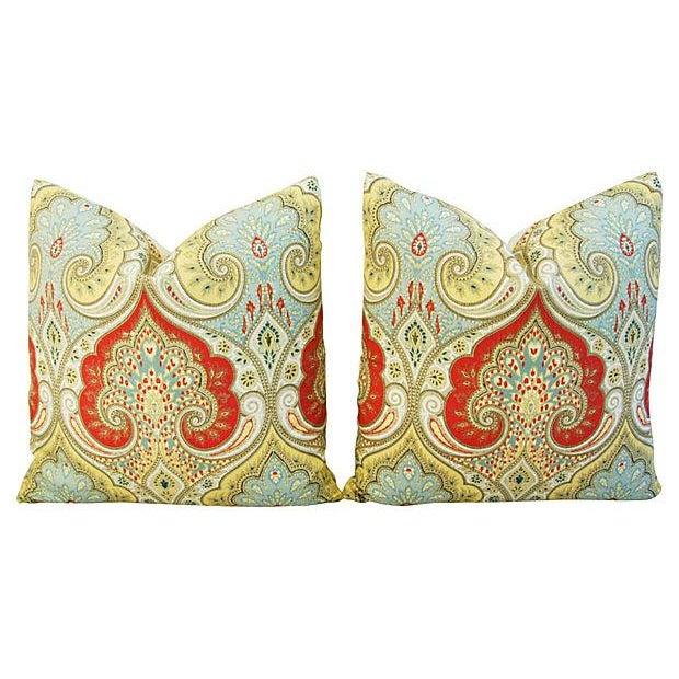 Custom Kravet Latika Festival Linen Pillows - Pair - Image 7 of 7