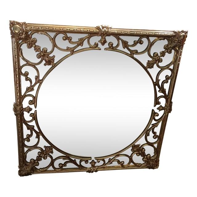 Ornate Brass Overlay Mirror - Image 1 of 4
