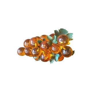 Mid Century Orange Resin Decorative Grapes