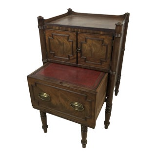 19th C. Regency Walnut Library Step