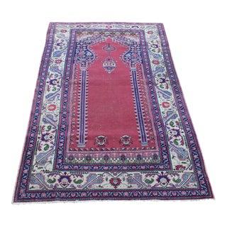 """Vintage Turki̇sh Anatolian Rug - 3'9"""" x 6'2"""""""