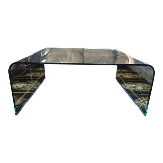 Square Glass Waterfall Coffee Table