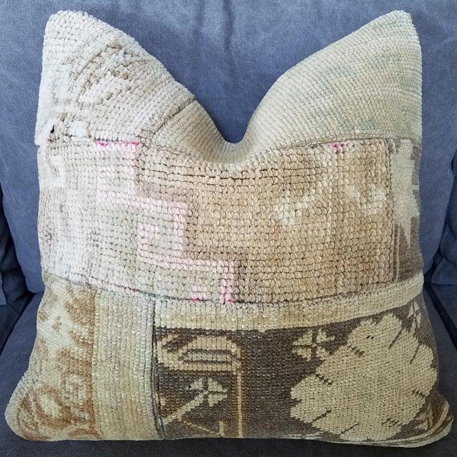 Vintage Turkish Rug Fragment Pillow - Image 2 of 10