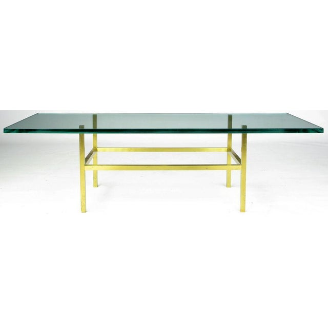 Solid Brass Square Bar Coffee Table After Dunbar - Image 3 of 4