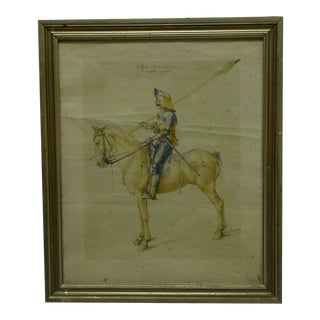 "Circa 1900 ""The Soldier"" Framed Albrecht Durer Print"