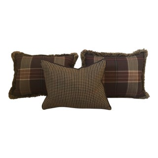 Custom Wool Ralph Lauren Throw Pillows - Set of 3