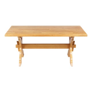 French Country-Style Trestle Dining Table