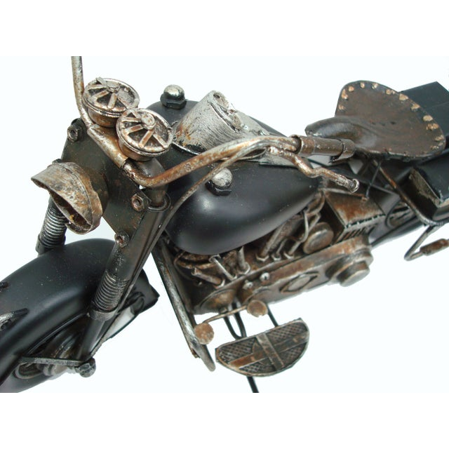 Metal Motorcycle With Moving Parts - Image 3 of 7