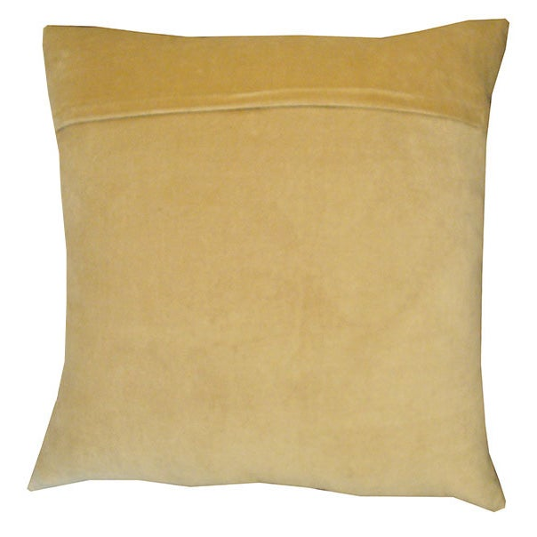 Modern Gold Pillows : Tahari Modern Gold Print on Velvet Down Pillow Chairish