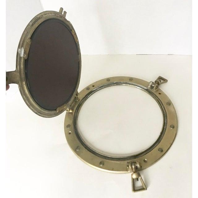 Brass Nautical Porthole Mirror - Image 3 of 4