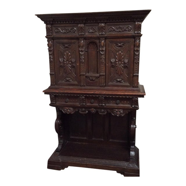 Mediterranean Style Antique Elements Cabinet - Image 1 of 11