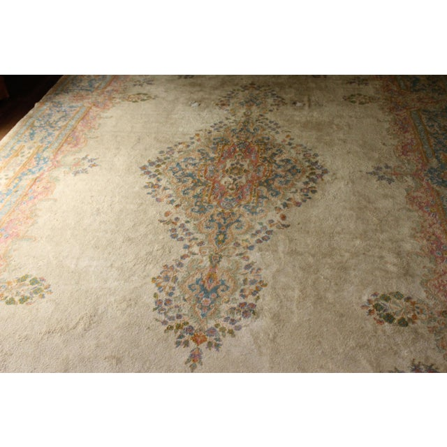 "Traditional Center-Medallion Kerman Persian Wool Rug - 10'5"" X 16'5"" - Image 2 of 3"