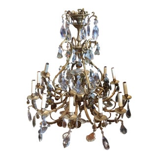 Extra large Italian chandelier with Amber Fruit Details
