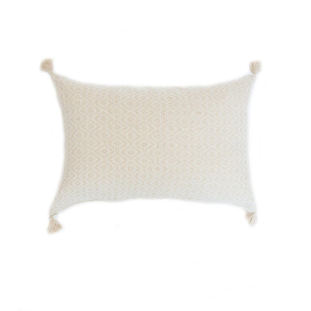 Vanilla & White Handwoven Mexican Pillow - Image 1 of 3