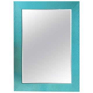 """Tiffany Blue"" Horizontal or Vertical Contemporary Mirror"