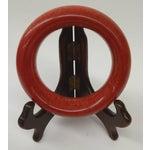Image of Hand Carved Red Vintage Jade Bangle Bracelet